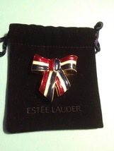 Estee Lauder USA PATRIOTIC RIBBON 2003 Perfume Compact - Red White and Blue - $25.00