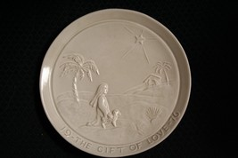 1976 Frankoma Pottery~The Gift Of Love~Christmas Plate~By Joniece~Mint - $14.01