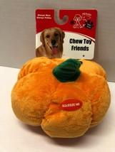 "Pet Lou Petlou 8"" Squeaky Plush PUMPKIN Dog Pet Puppy Toy - £10.49 GBP"