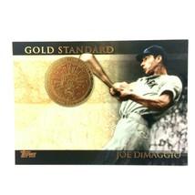 Joe DiMaggio 2012 Topps Gold Standard Insert #GS-18 MLB HOF New York Yan... - $2.92