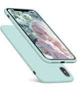 Case For iPhone Xs Max Silicone Slim Case Hybrid Protection Cover Mint G... - £39.57 GBP