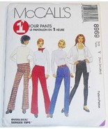 McCalls 8969 Pattern Misses' Pull-On Pants or Leggings for Stretch Woven... - $9.85
