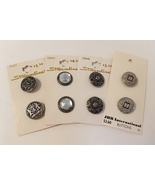 Mixed Lot 8 Buttons Vintage Streamline JHB Silver Metal Crystal Ornate O... - $58.00
