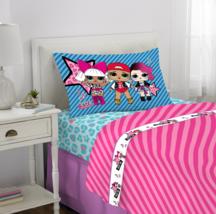 L.O.L. Surprise! Sheet Set, Kids Bedding, 3-Piece Twin Size - $35.49