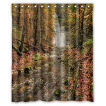 Waterfall River Forest #01 Shower Curtain Waterproof Made From Polyester - $31.26+