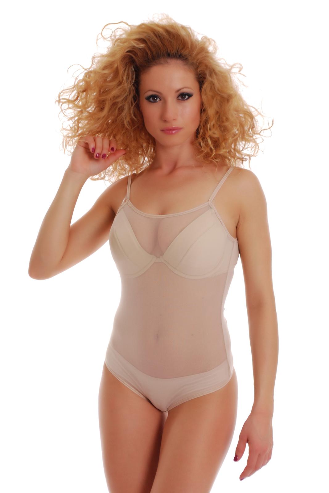 cd0c2a3589 Mesh Women Bodysuit Thin Strap See Through Vest Bikini 324 Leotard Body  Tulle EU