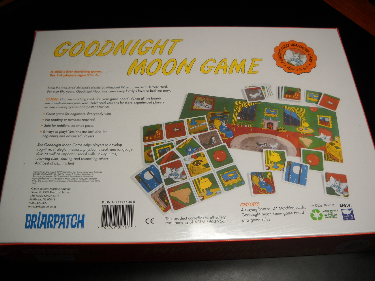 Briarpatch Good Night Moon Game  A Childs First Matching Game 1997 Still Sealed