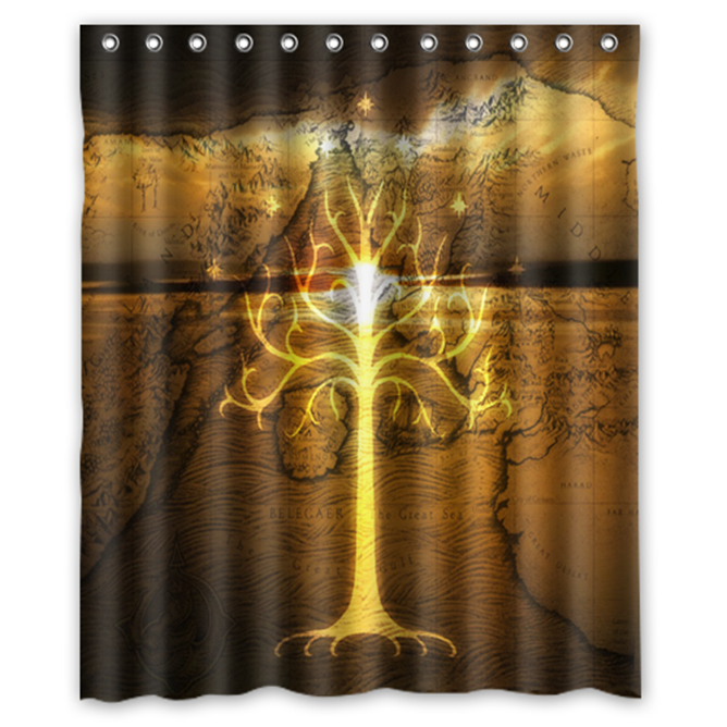 Primary image for White Tree Gondor Lord Of The Ring Shower Curtain Waterproof Made From Polyester