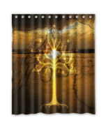 White Tree Gondor Lord Of The Ring Shower Curtain Waterproof Made From P... - $31.26+