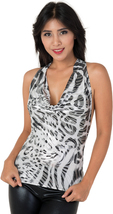 clubwearguru® Womans Halter Neck Cowling Top/Shirt with Hand Braided Straps - $22.99