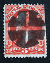 US Stamp Sc# O17 3c Interior Department Used SOTN CR-X19 Cross Roads Cancel - $15.99