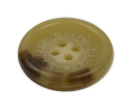 "Ralph Lauren logo plastic Husk brown Replacement Sleeve/pocket button .75"" - $4.90"
