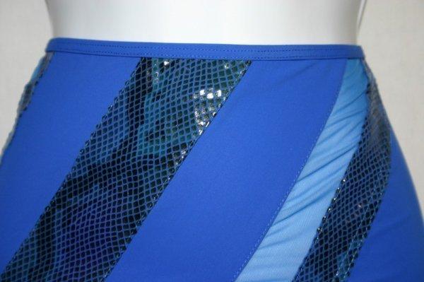 Gottex Gold NWT Royal Blue Swimsuit Bathing Suit Coverup Skirt sz L