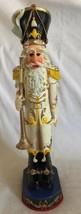 "Plus One Imports Decorative Wood Santa Soldier Figurine 13"" White Unifor... - $32.66"