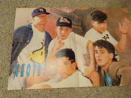 New Kids on the block teen magazine poster clipping white shorts outside Bop