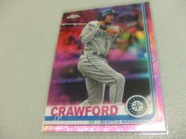 2019 Topps Chrome Pink Refractor #15 J.P. Crawford Seattle Mariners - $3.12