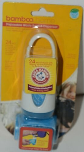 Arm Hammer Bamboo Home Disposable Waste Bags Dispenser Fresh Scent Blue 24 Bags