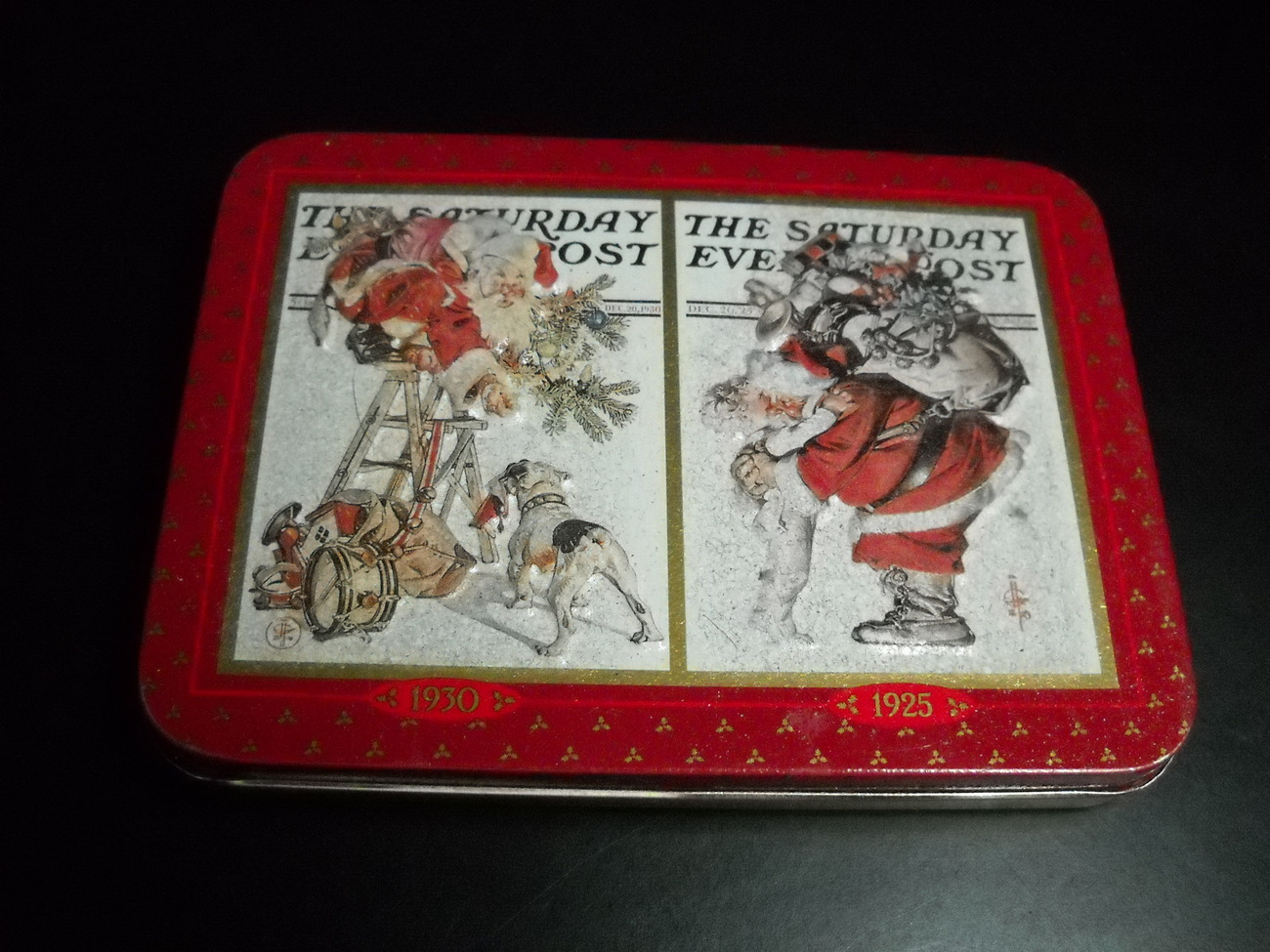 Cards norman rockwell playing cards 2 sealed decks in christmas tin 1997 01