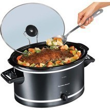 8 Quart Slow Cooker Crock Pot Extra Large Oval Electric Black - $1.123,47 MXN