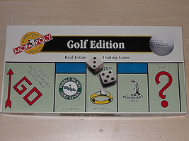 Monopoly Golf Edition Board Game 10 Traditional Tokens - $9.89