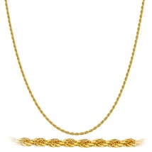 Real 925 Sterling Silver Goldtone 1.5mm 16 Inch... - $9.74