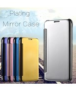 Plating Mirror Intelligent  Flip Window Protection Case Cover for iPhone 7 - $7.90