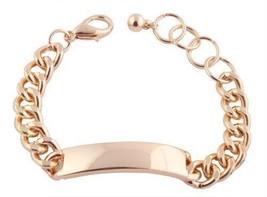 2 Pieces of Goldtone ID Chain Adjustable Bracelet - $6.81