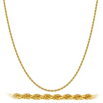 Real 925 Sterling Silver Goldtone 1.5mm 20 Inch... - $9.74
