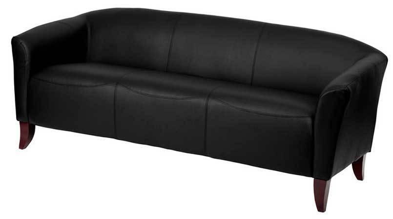 HERCULES Imperial Series Black Leather Sofa