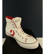 NEW/RARE Converse Star Plyr Ev Mid - White/Red 8 Men's 121436 - $69.25