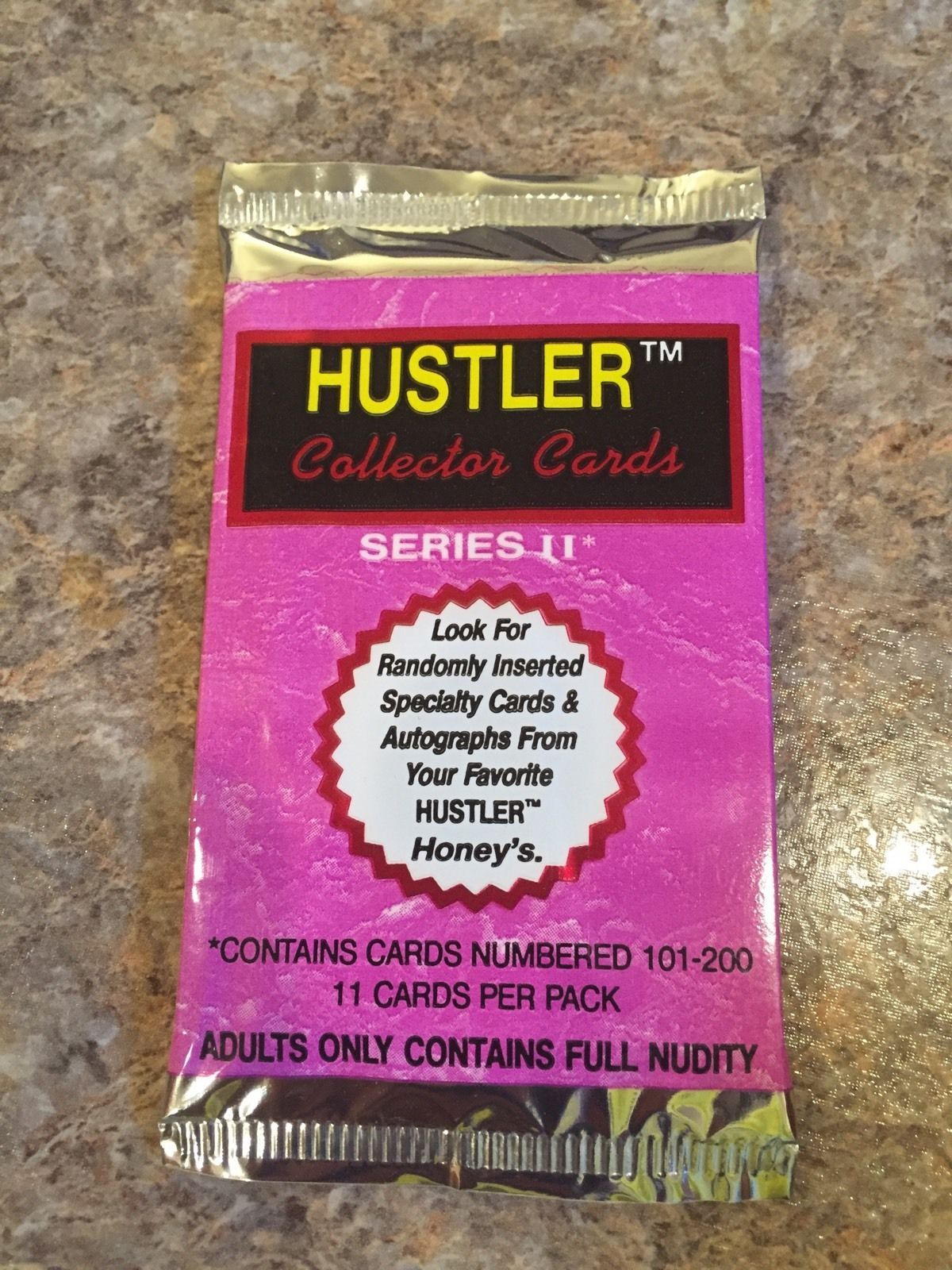 1993 Hustler Collectors Cards Series II. Total 5 Packs Of 11 Cards Each Lot