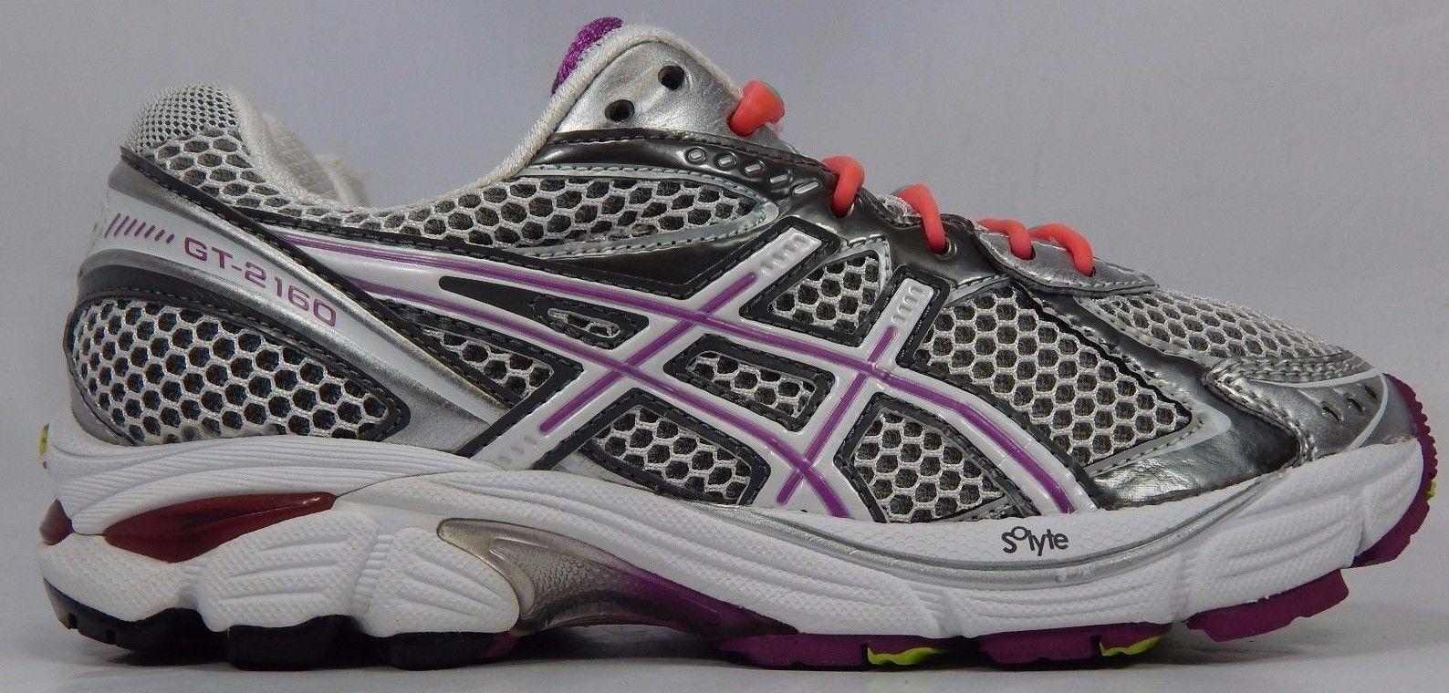 Asics GT 2160 Women's Running Shoes Size US 7.5 M (B) EU 39 White Gray T154N