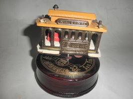 san francisco cable car music box - $15.00