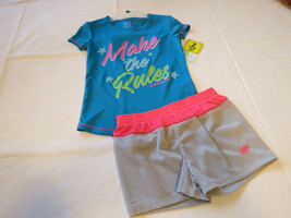 Skechers Active 5T Toddler girls active mesh shorts & t shirt SKX306 NWT... - $29.69