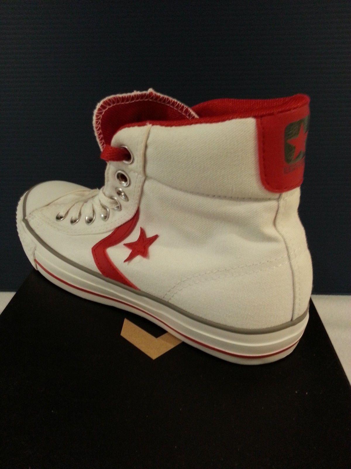 NEW/RARE Converse Star Plyr Ev Mid - White/Red 8 Men's 121436