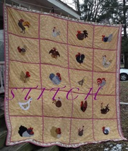 Made to Order Chicken quilt - $230.00+