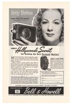 Bell & Howell Betty Hutton '40s Filmo Camera Advertisement Original Ad V... - $9.74