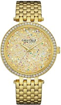 Caravelle New York Women's 44L184 Crystal Gold Tone Watch - $246.01