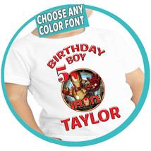 Custom Iron Man Shirt Family Matching Tee Gift Birthday T-shirt Kid Part... - $12.00