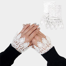White Lace Cuff Gloves Sleeve Extenders 318303 - $176,88 MXN