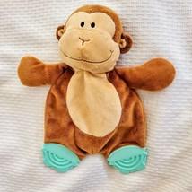 Koala Baby Brown Tan Monkey Stuffed Plush Monkey Rattle Teether Teething Toy - $39.59