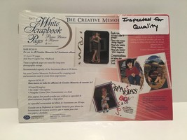 Creative Memories 5x7 White Scrapbook Refill Pages Sentiments Albums 10 ... - $9.74