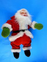 """Vintage 9"""" Santa Claus Doll velvet suit, faux f... - $12.61"""