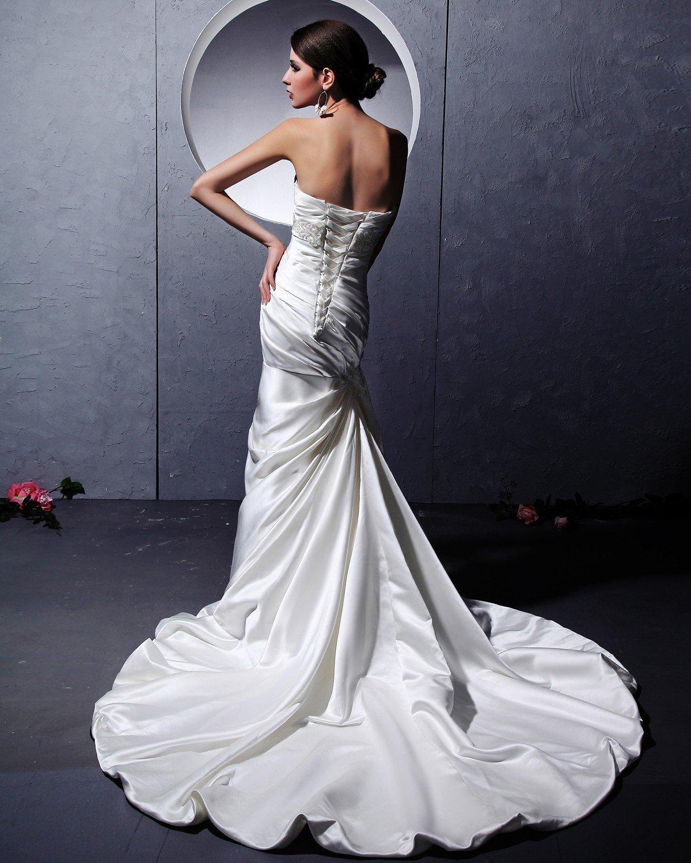 Albizia Sweetheart Satin Monarch Train Mermaid Wedding