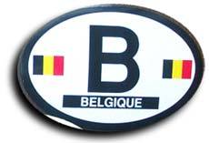 Belgium oval decal 3827