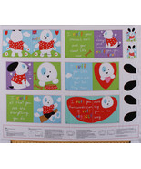 """35"""" X 44"""" Panel Soft Book Puppy Dogs Pets Kids Animals Cotton Fabric D475.33 - $11.61"""