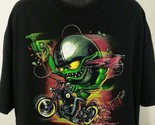 Hot Leathers T Shirt Motorcycle American Black Low Brow 8 Ball Mens Size XXL 2XL
