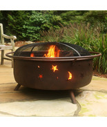Outdoor Large Wood Burning Cooking Fire Pit Firepit Backyard Patio Deck ... - $216.81