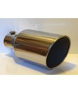 """POLISHED STAINLESS STEEL 5"""" X 7"""" X 15"""" ROLLED ANGLE DIESEL EXHAUST TIP - $54.45"""