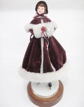 Simpich Character Dolls Victorian Ice Skater Evalyn Jane 1988 Burgundy C... - $272.25
